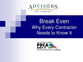 Break Even  Why Every Contractor Needs to Know It