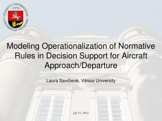 Modeling Operationalization of Normative Rules in Decision Support for Aircraft Approach/Departure