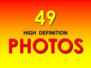 49 HIGH  DEFINITION PHOTOS