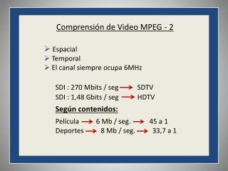 Comprensión de Video MPEG - 2