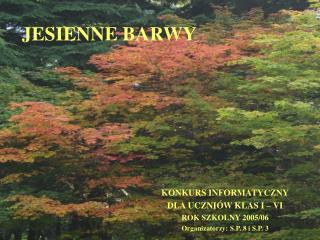 JESIENNE BARWY