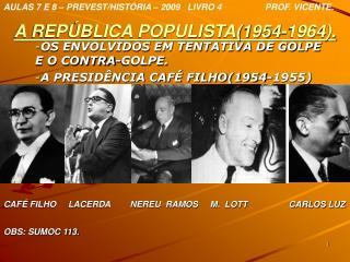 A REPÚBLICA POPULISTA(1954-1964).