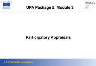 Participatory Appraisals