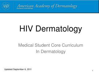 HIV Dermatology