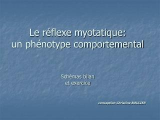 Le r flexe myotatique:  un ph notype comportemental   Sch mas bilan et exercice