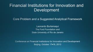 Financial Institutions for Innovation and Development