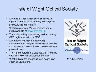 Isle of Wight Optical Society