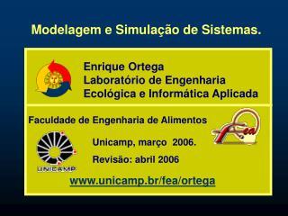 Modelagem e Simulação de Sistemas.