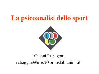 La psicoanalisi dello sport