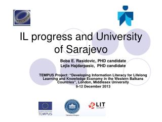 IL progress and University of Sarajevo