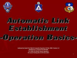 Authored by South Fort Worth Composite Squadron 02-Mar-2004   Version  2.3