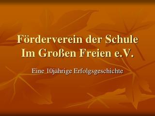 Förderverein der Schule Im Großen Freien e.V.
