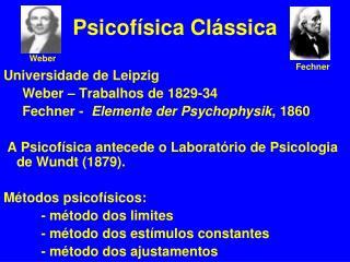 Psicofísica Clássica