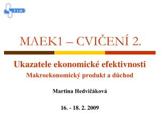 MAEK1 – CVIČENÍ 2.