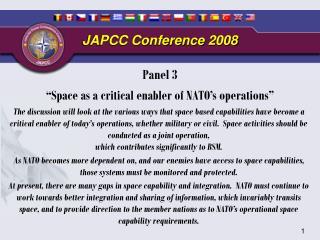 JAPCC Conference 2008