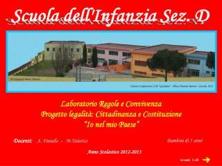 Scuola dell'Infanzia Sez. D