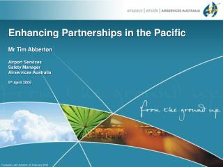 Enhancing Partnerships in the Pacific
