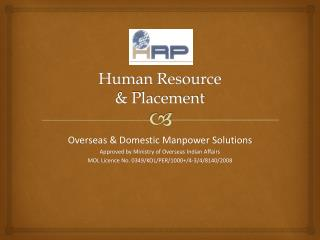 Human Resource  & Placement