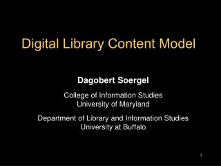 Digital Library Content Model