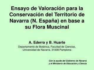 A. Ederra y B. Huarte