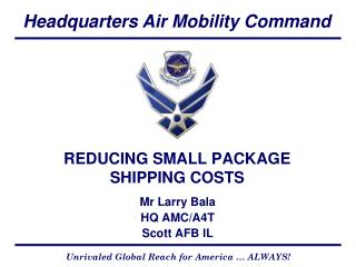 REDUCING SMALL PACKAGE SHIPPING COSTS
