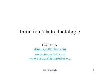 Initiation   la traductologie