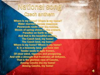 National  song Czech  anthem
