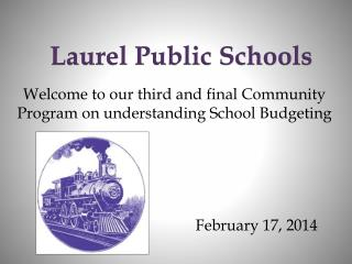 Welcome to our third and final Community Program on understanding School Budgeting