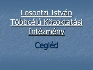 Losontzi István Többcélú Közoktatási Intézmény