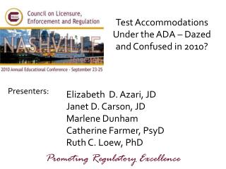 Test Accommodations Under the ADA – Dazed and Confused in 2010?