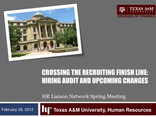 Texas A&M University, Human Resources