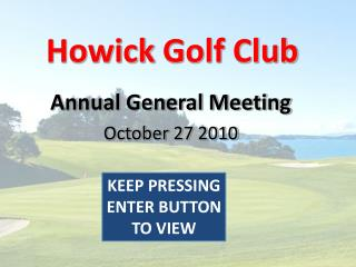 Howick  Golf Club