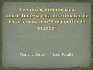 Mariana Cortez – Néstor Peralta