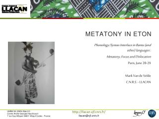 metatony  in Eton