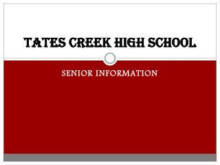 TATES CREEK HIGH SCHOOL