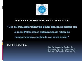 TESINA DE SEMINARIO DE GRADUACION :