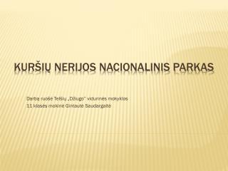 Kuršių nerijos nacionalinis parkas