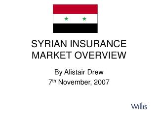 SYRIAN INSURANCE MARKET OVERVIEW