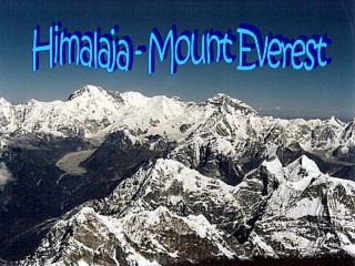 Himalaja - Mount Everest
