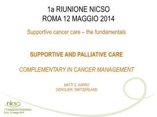 1a RIUNIONE NICSO ROMA 12 MAGGIO 2014