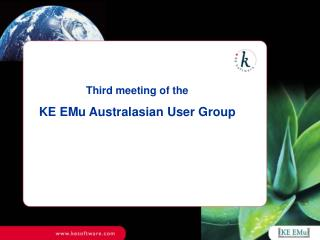 Third meeting of the KE EMu Australasian User Group