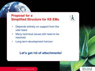 Proposal for a Simplified Structure for KE EMu