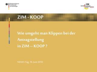Wie umgeht man Klippen bei der Antragstellung in ZIM – KOOP ?
