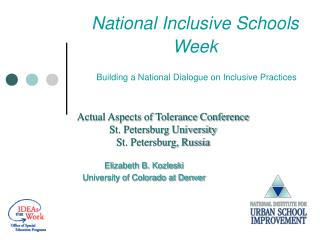 National Inclusive Schools Week   Building a National Dialogue on Inclusive Practices