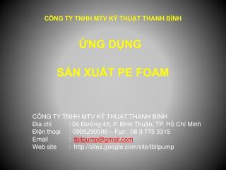 CÔNG TY TNHH MTV KỸ THUẬT THANH BÌNH