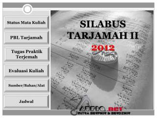 SILABUS TARJAMAH  II 2012