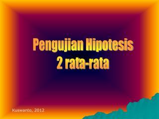 Pengujian Hipotesis 2 rata-rata