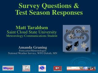 Matt Taraldsen Saint Cloud State University Meteorology-Communications Student