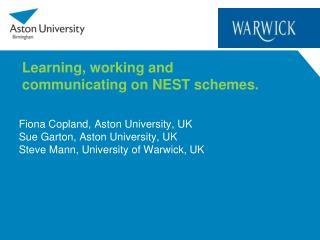 Fiona Copland, Aston University, UK Sue Garton, Aston University, UK