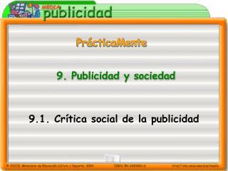 9.  Publicidad y sociedad